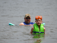 Swimming Fun on the Lake