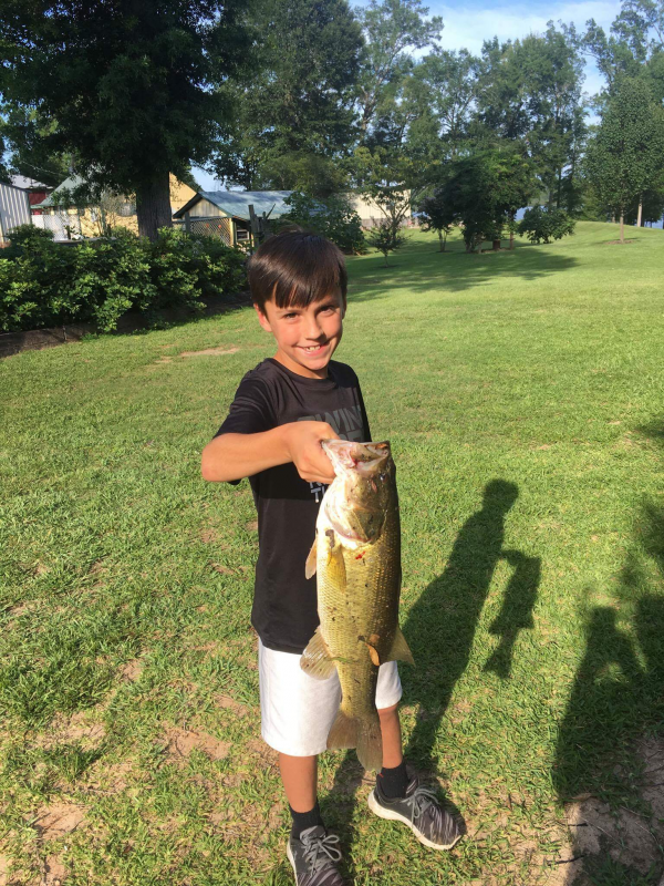 Another big bass caught by Murphy Holmes