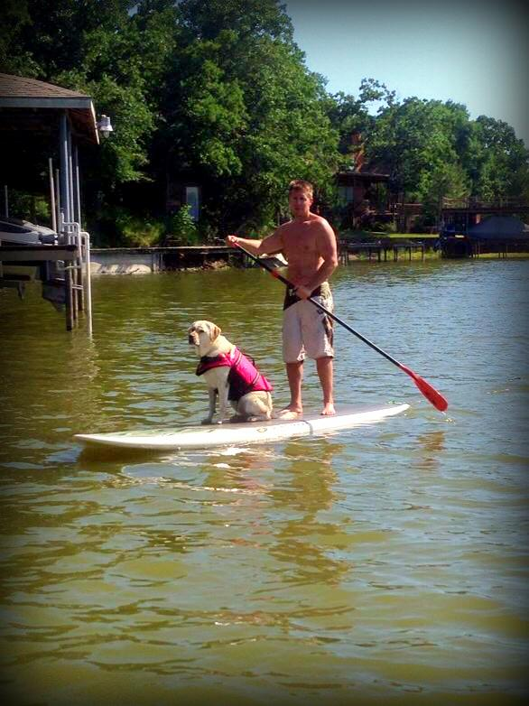 Afternoon paddle boarding
