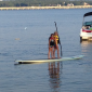 Stand up paddleboarding in Michael's Cove