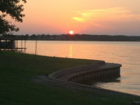 Sunset at Cedar Creek Lake