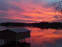 Sunset on Cedar Creek Lake