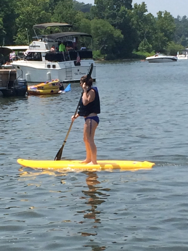 Erin and the Paddle Board