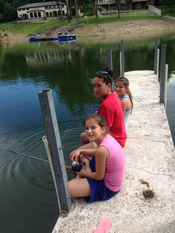 Family fishing at the Coves