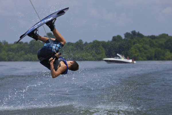 Wakeboarding on Grand Lake