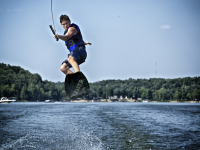 Jumping the wake