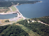 Aerial View of the Lake Eufaula Dam