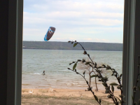 Kiteboarding the chute