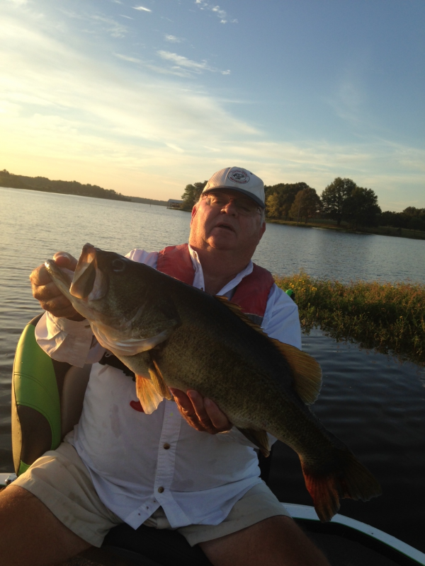 LFA member Gene Shoemaker with a weighed 10.2 lb