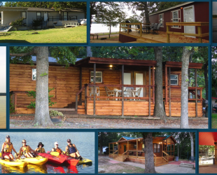 bayou cabins rentals texoma vacation cedar p on lake and