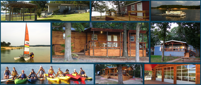 cabins lake new rent of oklahoma villa stock texoma turner in for falls