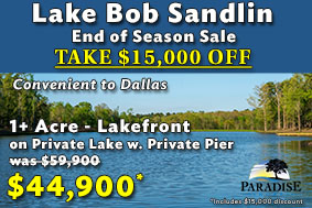 Paradise Shores Lakefront Homes