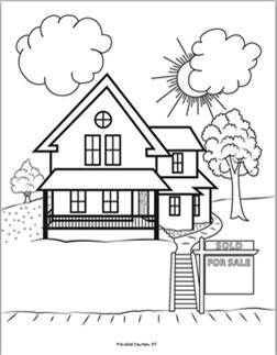 kids coloring page for summer - Open House Coloring Pages