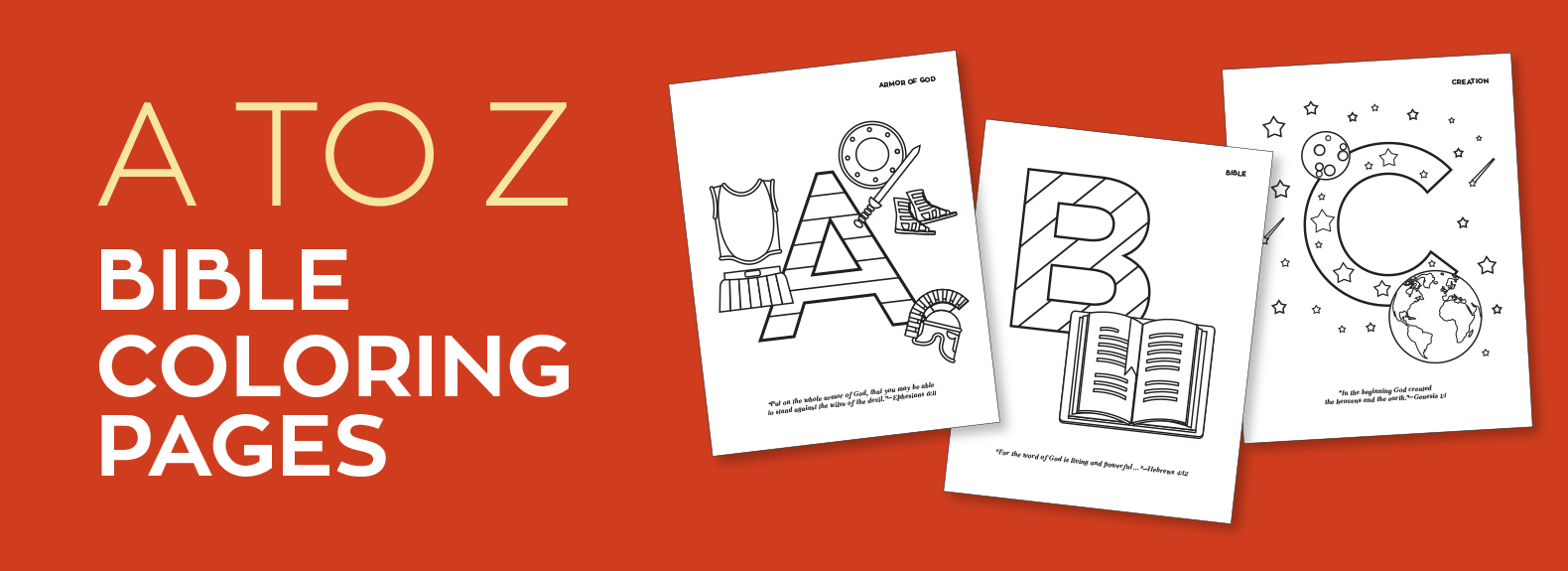 A to Z Bible Coloring Pages - Life, Hope & Truth