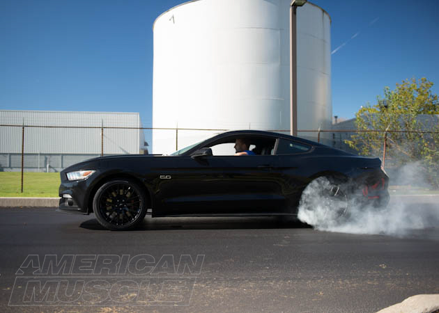 2015 Mustang GT Doing a Burnout