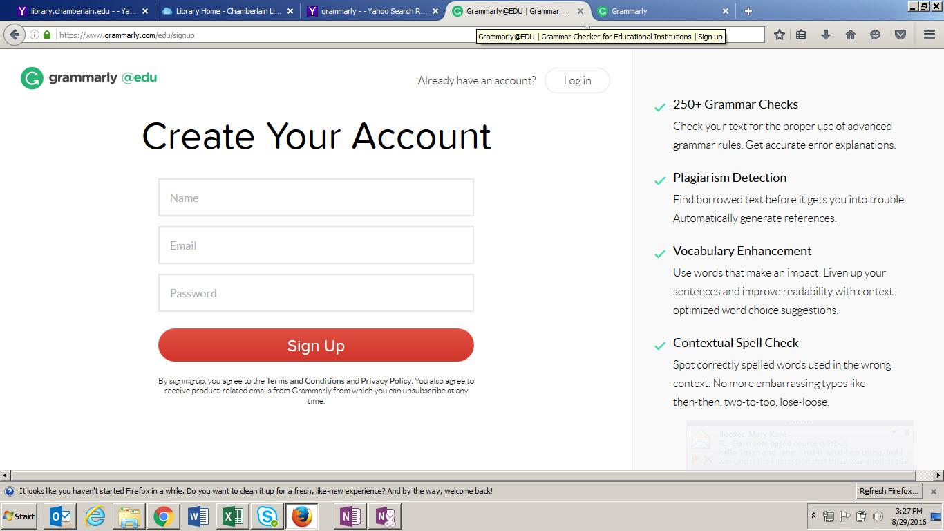 Grammarly Create an Account