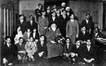 Tagore with Berkeley students