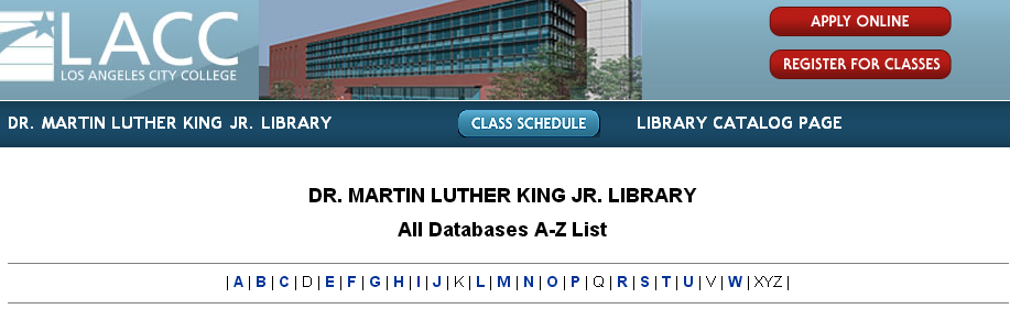 Databases - Using the Library - LibGuides Home at Los