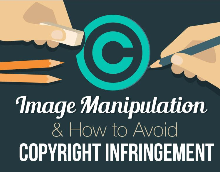 Snip of Image Manipulation and Copyright Infographic