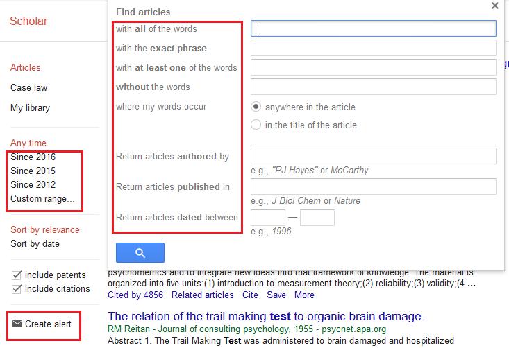Google scholar google scholar nazarbayev university libguides at snapshot of google scholar advanced search menu stopboris Image collections