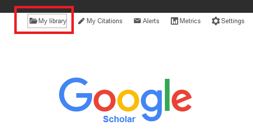 Google scholar google scholar nazarbayev university libguides at snapshot of the google scholar front page with the location of my library link underlined stopboris Image collections