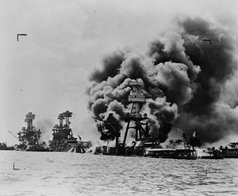 Three ships damaged at Pearl Harbor (Credoreference)