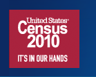 Logo of and link to the U.S. 2010 Census web site