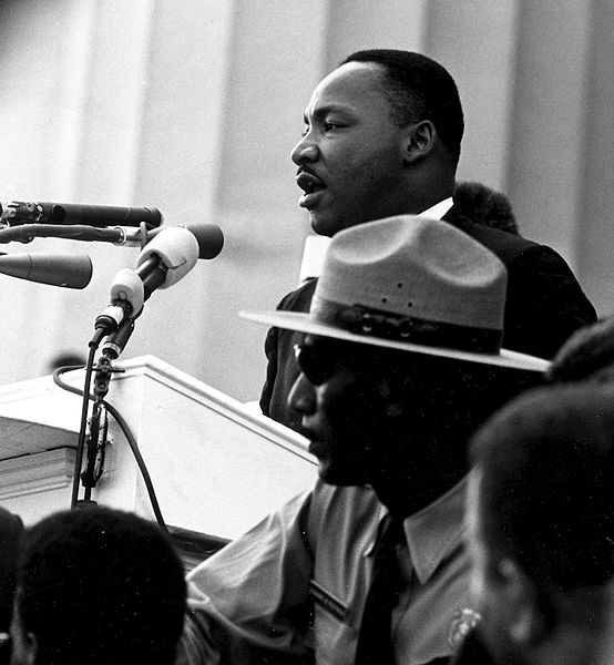 Dr. Martin Luther King, Jr. giving his I have a Dream Speech in Washington, DC, in 1963