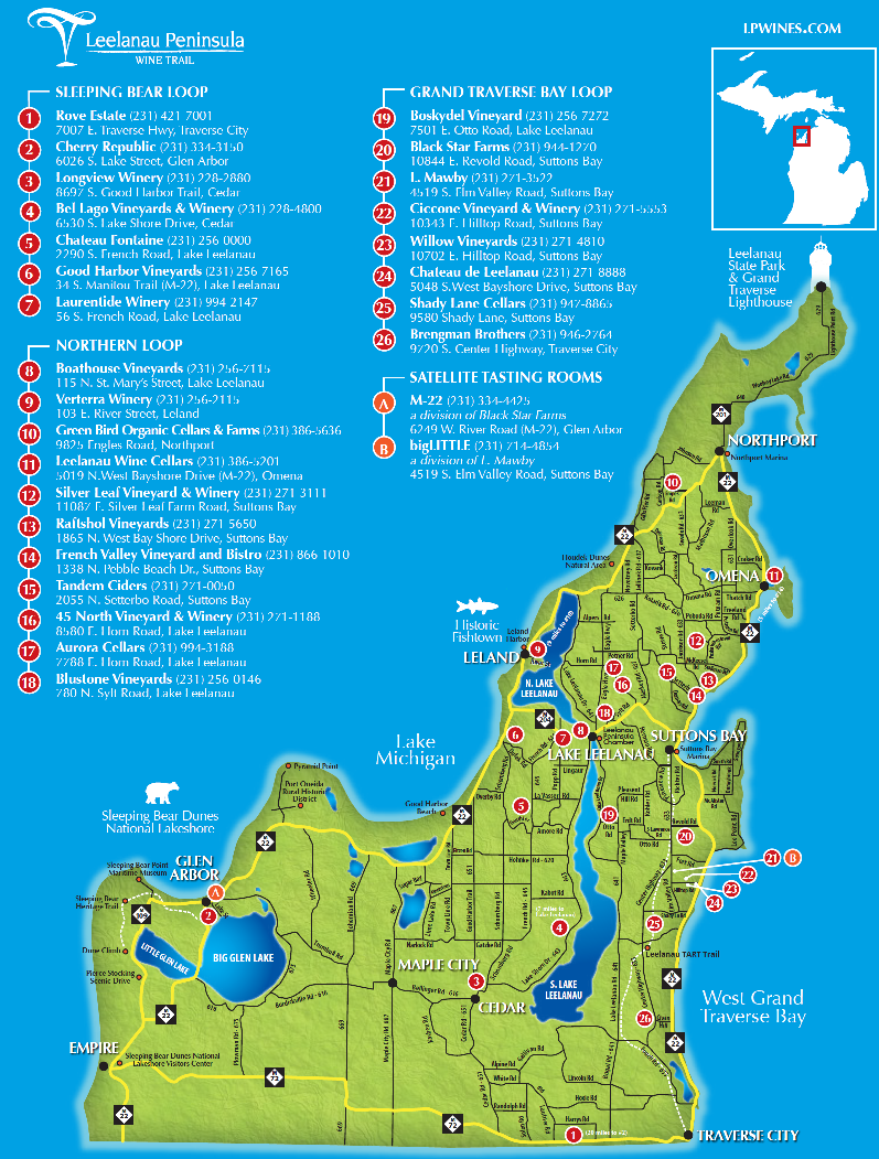 Wine Trails Tourism Michigan Wineries LibGuides For Library - Michigan wineries map