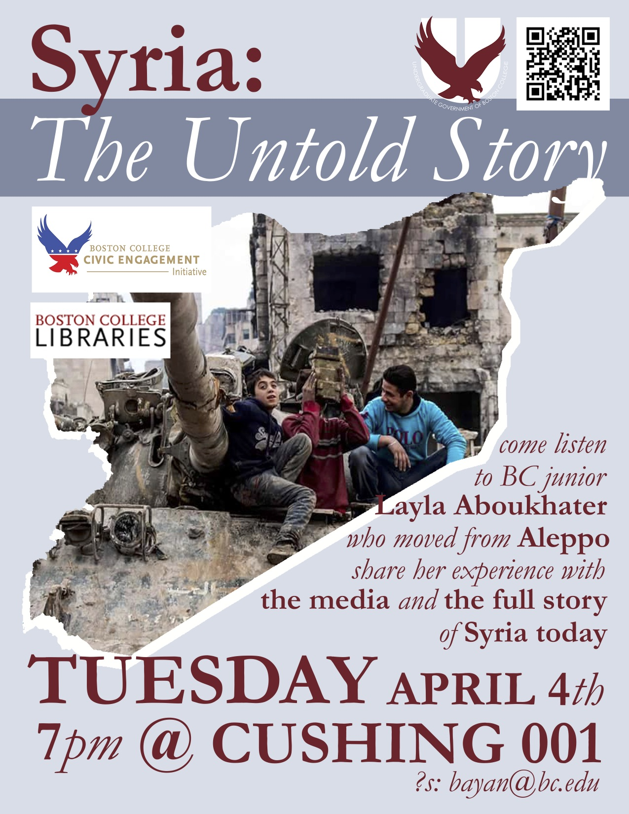 promotional flyer for Syria: The Untold Story