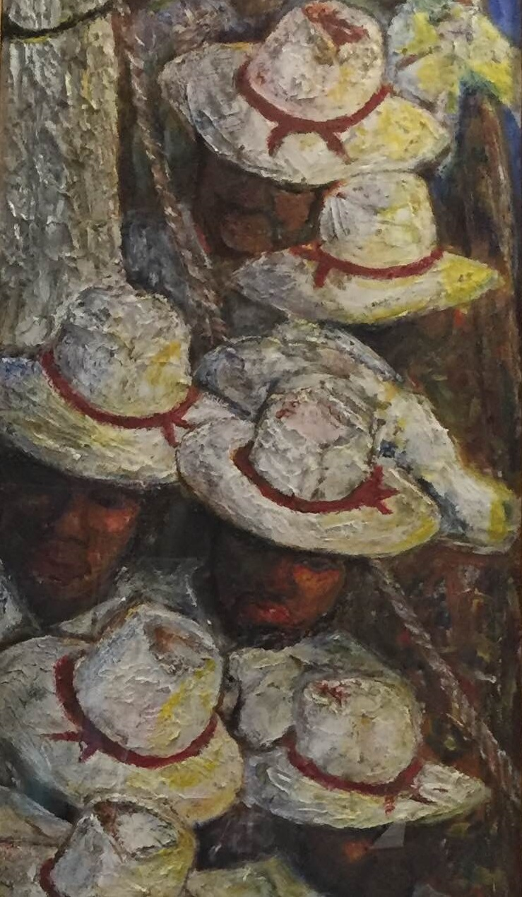 detail of Buffalo Soldiers in Spanish Style Hats
