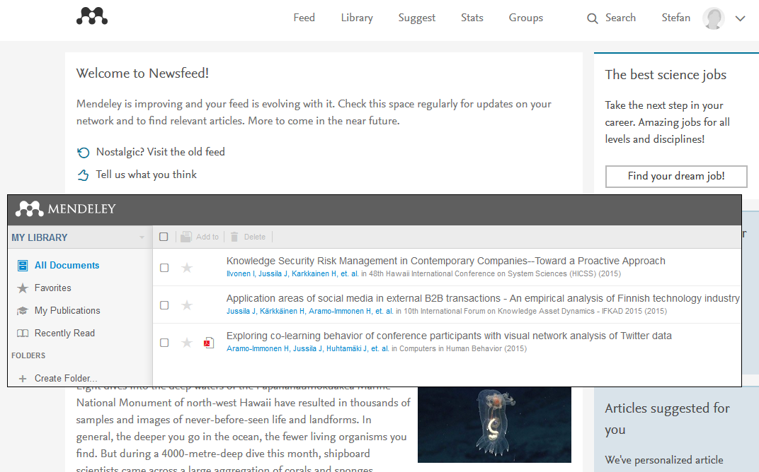 Mendeley account and utility software - Mendeley Guide