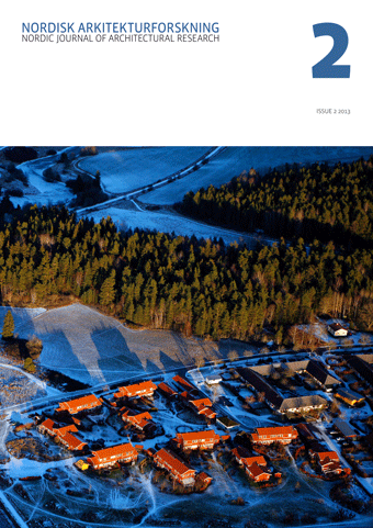 The cover of: Nordic Journal of Architectural Research