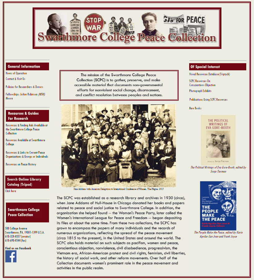 Swarthmore College Peace Collection