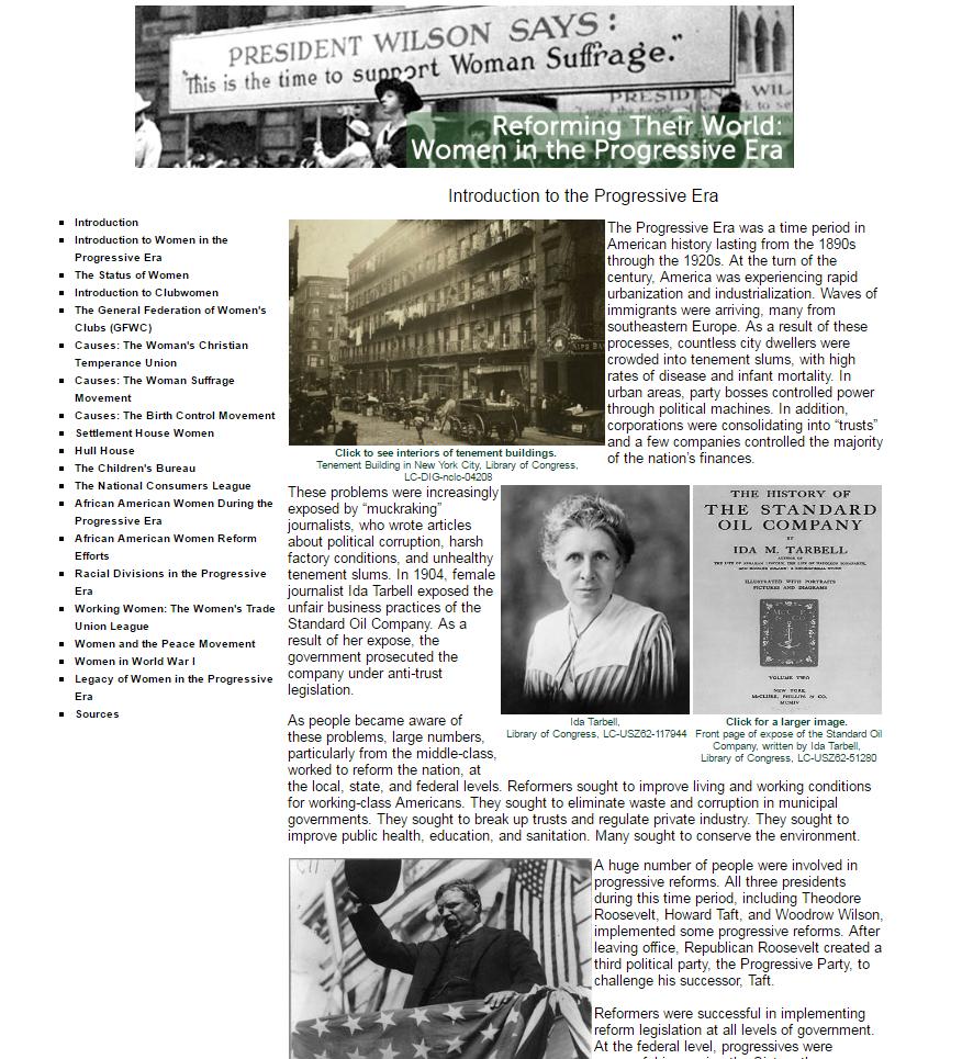 Reforming Their World: Women in the Progressive Era