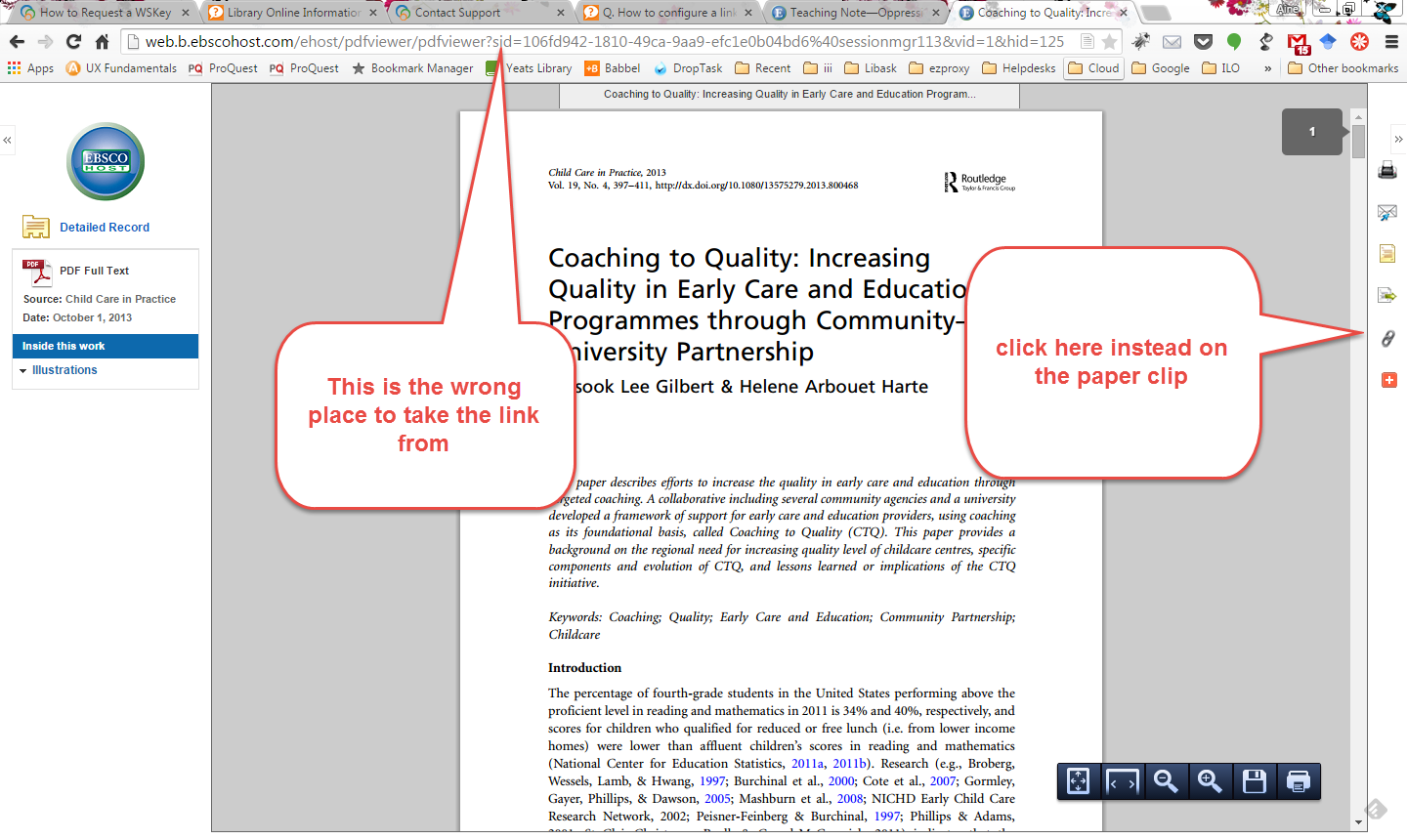 screenshot of ebsco page
