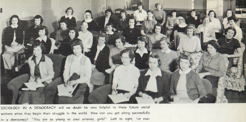 1951 Sociology Club with Future Social Workers