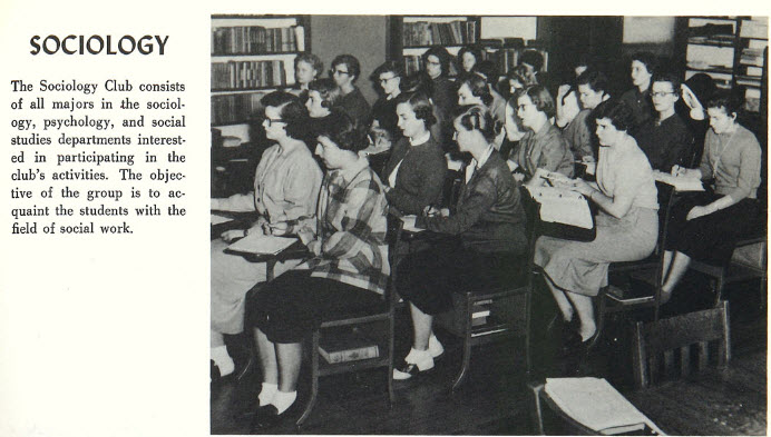 1956 Sociology Club with Future Social Workers