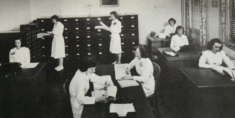 Medical Records Class, 1942