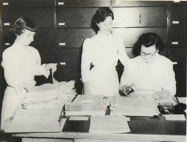 Medical Records Students, 1955