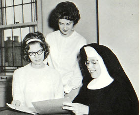 Sister M. Loretta, Chairman for Medical Records program, 1950s