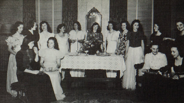 Tea sponsored by medical record students in 1942
