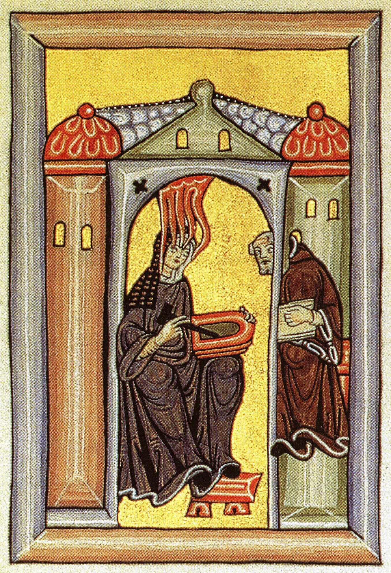 Hildegard receives divine inspiration