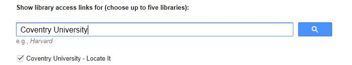 Google Scholar Library Search