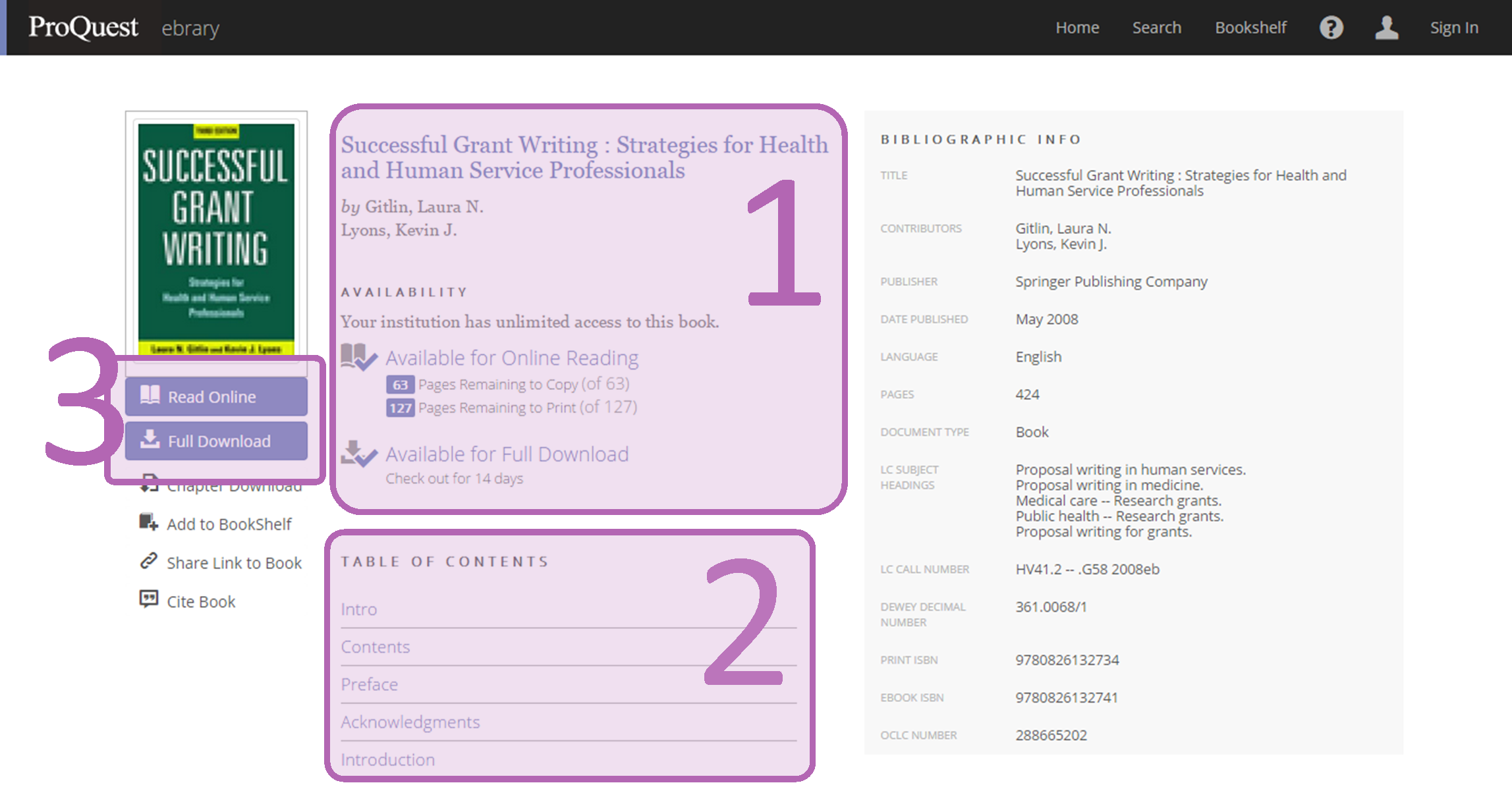 ProQuest Ebook Central Interface