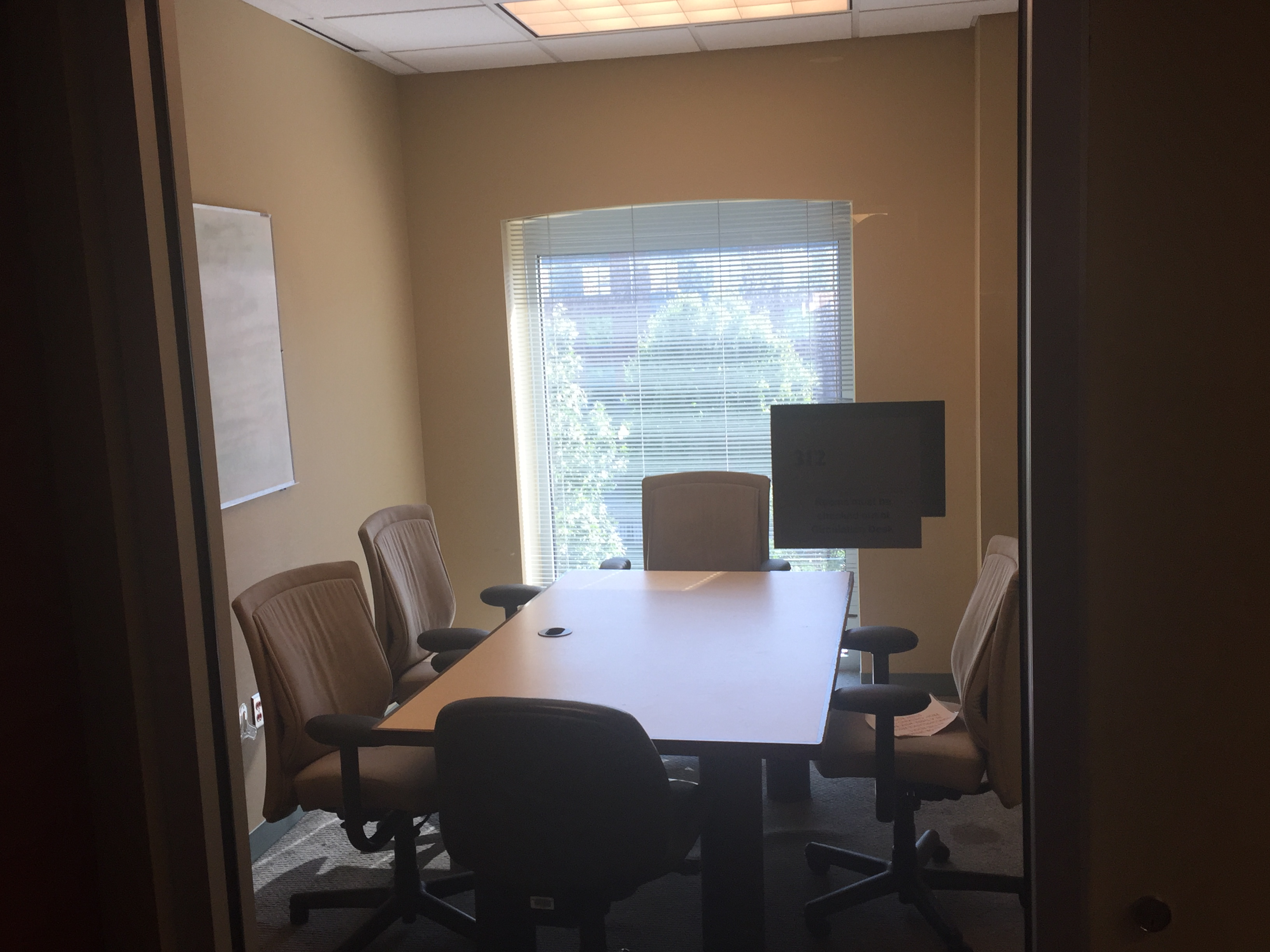 One of the private study rooms at Howard
