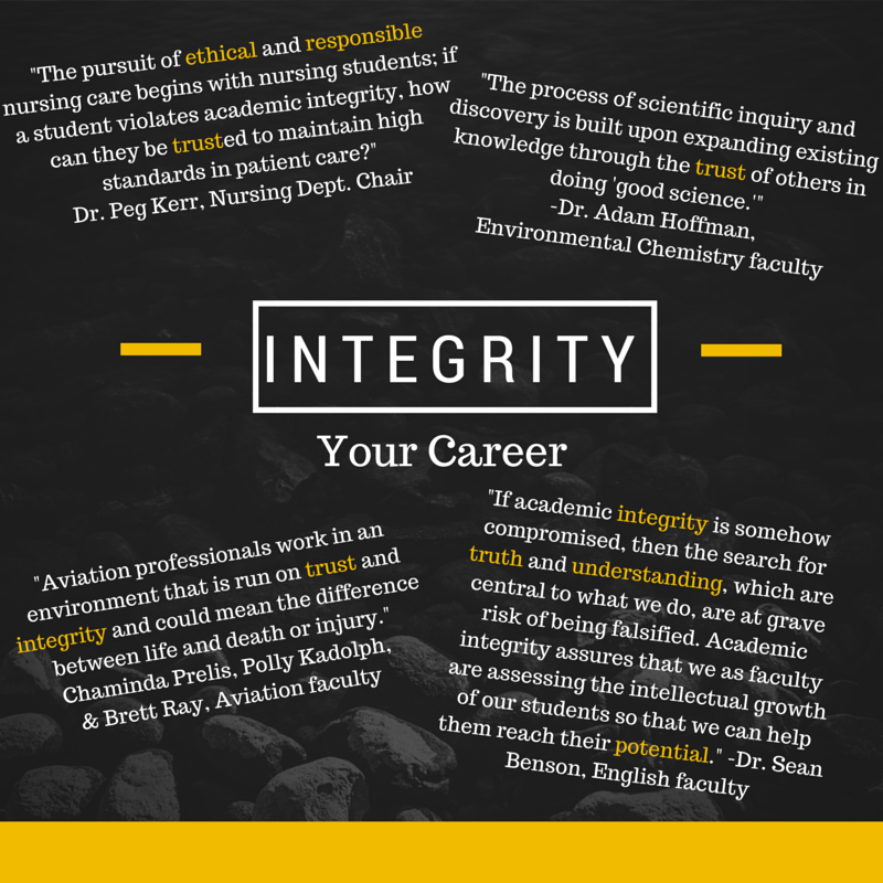 Academic integrity quotes from faculty