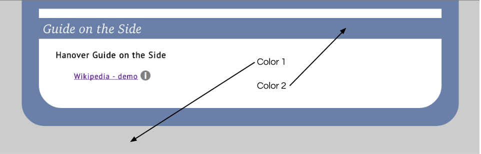 Guide on the side color options on the index page