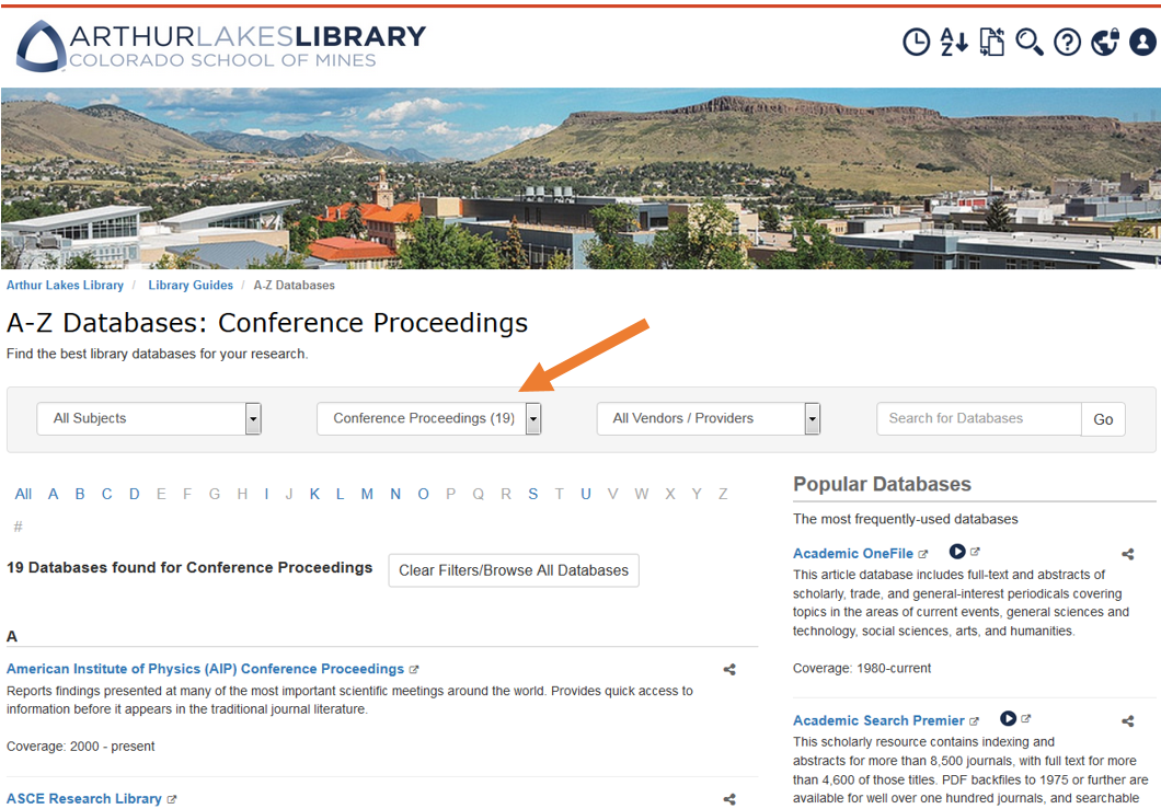 Conference Proceedings Databases