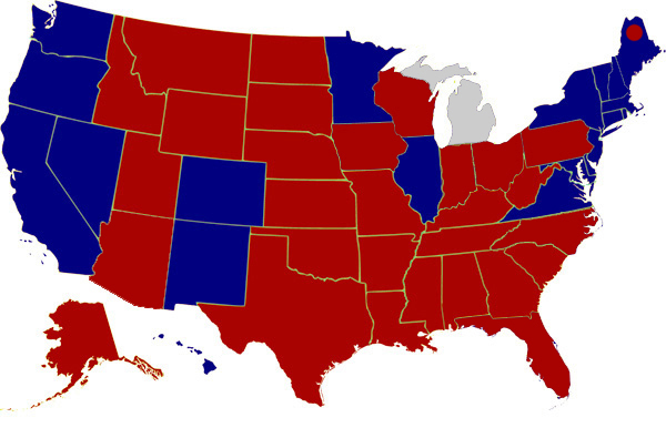 2016 Final Electoral Map showing President-Elect Trump's win